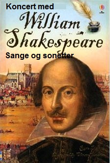 Program til William Shakespeare-koncert